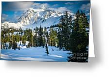 Shuksan Winter Paradise Greeting Card by Inge Johnsson