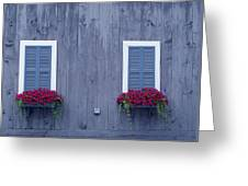 Shuttered Twins Greeting Card