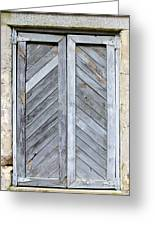Weathered Wooden Shutters Greeting Card