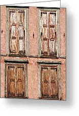 Four Wooden Shutters Greeting Card
