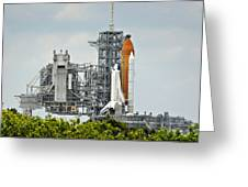 Shuttle Endeavour Is Prepared For Launch Greeting Card