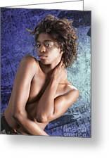 Chynna African American Nude Girl In Sexy Sensual Photograph And In Color 4786.02 Greeting Card
