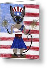 Siamese Queen Of The U S A Greeting Card
