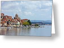 Sibenik Town On Adriatic Sea  Greeting Card
