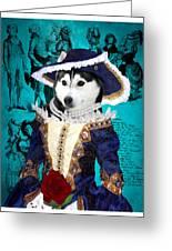 Siberian Husky Art Canvas Print - Baroness Greeting Card