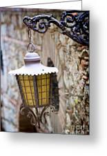 Sicilian Village Lamp Greeting Card by David Smith
