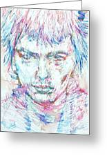 Sid Vicious - Colored Pens Portrait Greeting Card