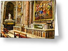 Side Altar In St Peters Basicilca Greeting Card