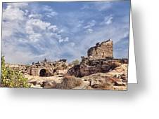 Side Ancient Archaeological Remains Greeting Card