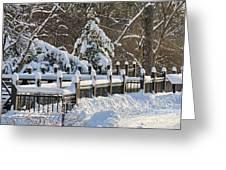 Side Cut Park Winter Wonderland Greeting Card