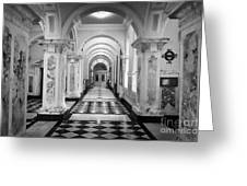 Side Hall Off The Main Entrance Belfast City Hall Built In 1906 County Antrim Northern Ireland Greeting Card