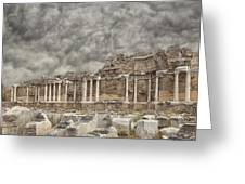 Side Nymphaeum Fountain Ruins Greeting Card