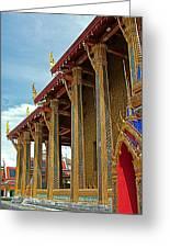 Side Of Royal Temple At Grand Palace Of Thailand In Bangkok Greeting Card