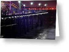 Side Of The Pier - Santa Monica Greeting Card