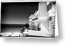 Side View In Cascais Greeting Card