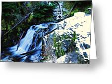 Side View Of Bumping Creek Falls Greeting Card