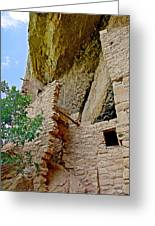 Side Window In Spruce Tree House On Chapin Mesa In Mesa Verde National Park-colorado  Greeting Card
