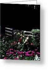 Side Yard Garden Greeting Card