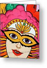 Carnival Mask Palm Springs Greeting Card