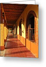 Sidewalk In Tlaquepaque District Of Guadalajara Greeting Card by Elena Elisseeva
