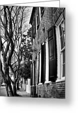 Sidewalk Scene-charleston Greeting Card