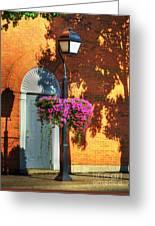 Sidewalk Shadows Greeting Card by Mel Steinhauer