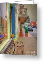 Sidewalk Shot Weston Missouri Greeting Card