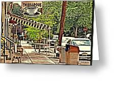 Sidewalk Stop Greeting Card