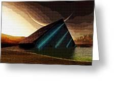 Sideways Painting Greeting Card