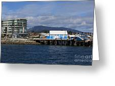 Sidney Harbour On Vancouver Island Greeting Card