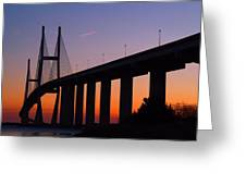 Sidney Lanier Bridge At Sunset Greeting Card
