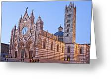 Siena Duomo At Sunset Greeting Card by Liz Leyden