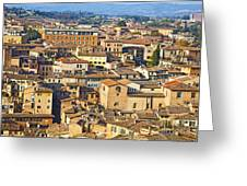 Siena Rooftops Greeting Card