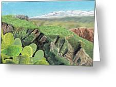 Sierra De Gador Greeting Card