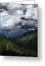 Sierra Nevada Lighting Strike Greeting Card