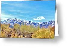 Sierras Peaking Greeting Card