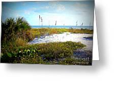 Siesta Beach View Greeting Card