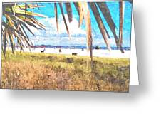 Siesta Key In Fall Greeting Card