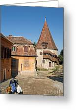 Sighisoara Transylvania Medieval Historic Town In Romania Europe Greeting Card