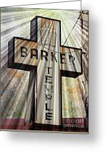 Sign - Barker Temple - Kcmo Greeting Card
