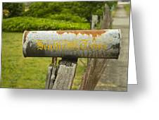 Sign Of The Times Seattle Times Greeting Card