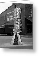 Sign Post In Crossville Tennessee 1939 Greeting Card
