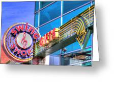 Sign - Swing Shop - Jazz District Greeting Card