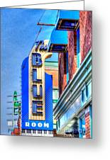 Sign - The Blue Room - Jazz District Greeting Card