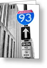 Interstate 93 Greeting Card