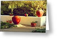 Signed Art Focal Point Outdoor Pottery Greeting Card