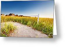 Signpost On Path Greeting Card