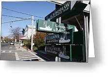 Signs Greenport New York Greeting Card