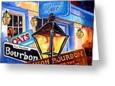 Signs Of Bourbon Street Greeting Card