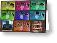 Signs Of Jim Beam Greeting Card